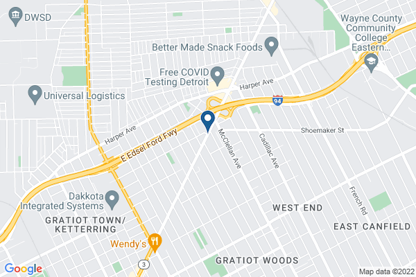 Map of Covenant House Academy Detroit (East)