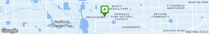 Map of Brightmoor Coney Island