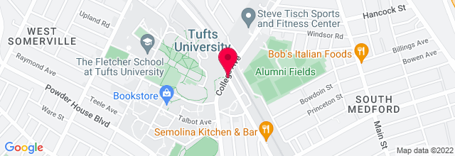 Map for Brown & Brew Cafe, Tufts University