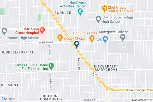 Map of Martin Luther King Jr Education Center Academy (5-8)