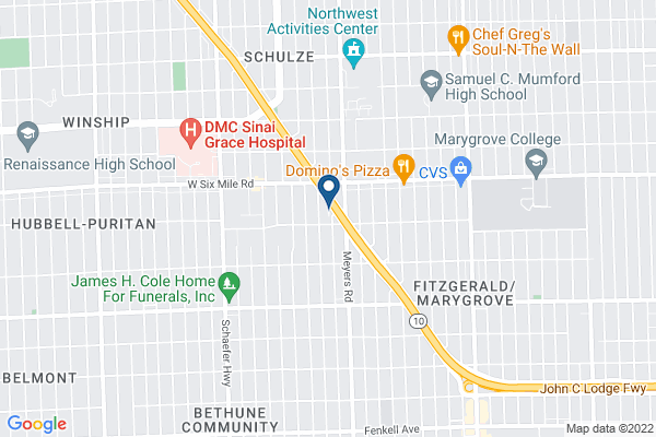 Map of Martin Luther King Jr Education Center Academy (K-4)