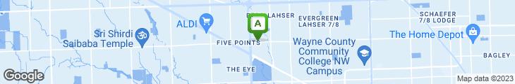 Map of Aurora Coney Island