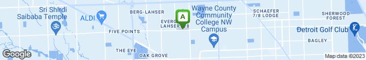 Map of Evergreen Gardens Restaurant