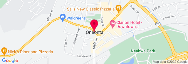 Map for Oneonta Theatre