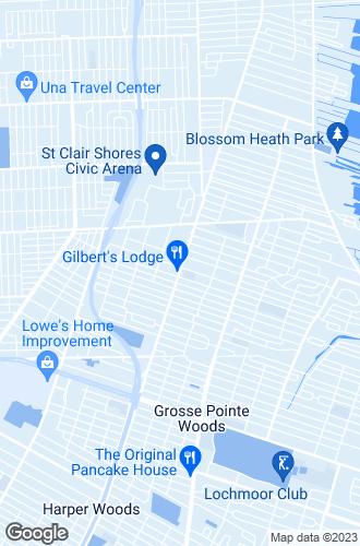 Map of Saint Clair Shores