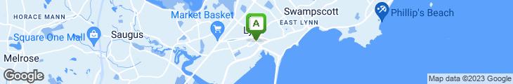 Map of Dragon Inn Restaurant in Lynn