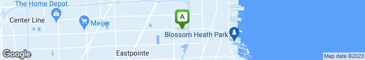 Map of Friendly Family Restaurant