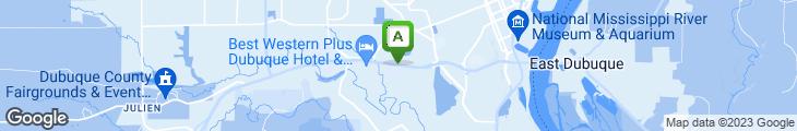 Map of Dubuque Family Restaurant