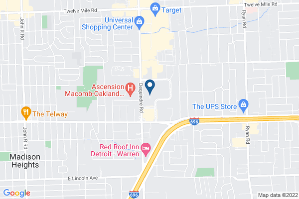 Map of Michigan Mathematics and Science Academy Dequindre Campus