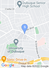 University of Dubuque map