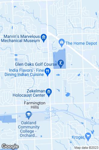 Map of Farmington Hills