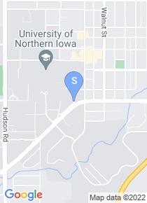 University of Northern Iowa map