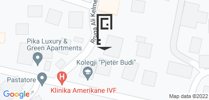 Google Map of Ali Kelmendi Street, Prishtina, Pristina District