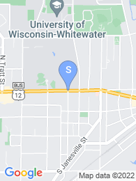 University of Wisconsin Whitewater map