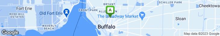 Map of Laughlin's Hearty Buffalo Bistro