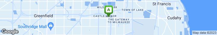 Map of Spring Gardens Restaurant
