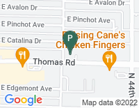 Google Map of 4222 East Thomas Road, Phoenix AZ