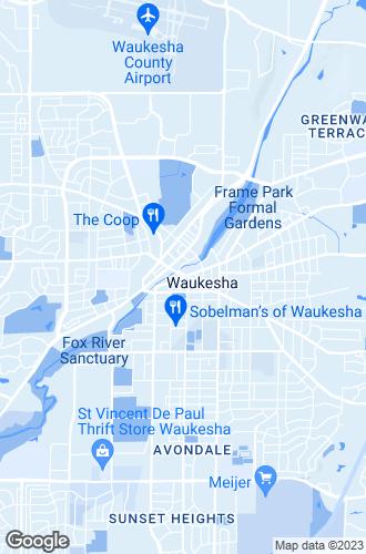 Map of Waukesha