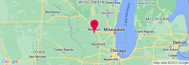 Map of Madison, WI, US