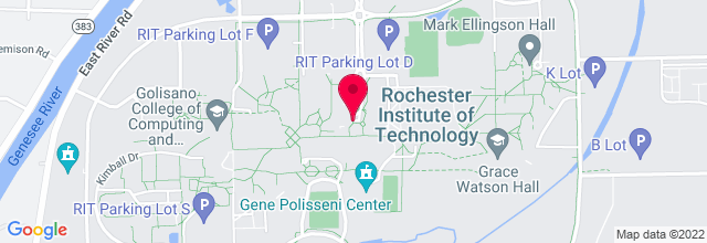 Map for Gordon Field House, Rochester Innstitute of Technology