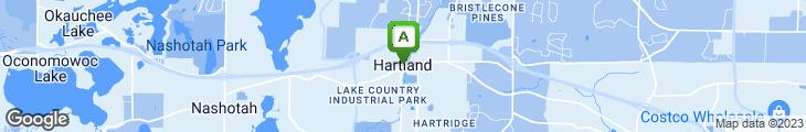 Map of Hartland Inn