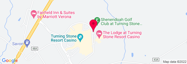 Map for Turning Stone Resort & Casino - Event Center