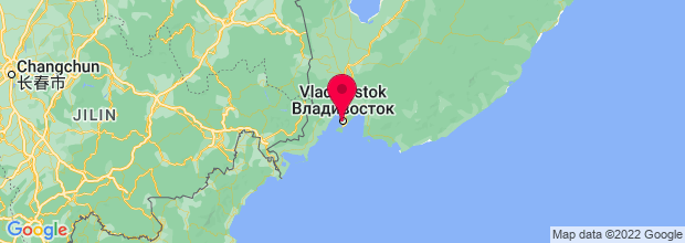 Map of Vladivostok, Russian Federation