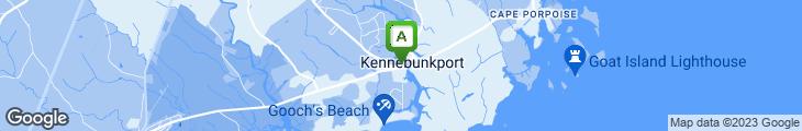Map of On The Marsh Restaurant