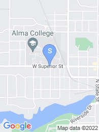 Alma College map