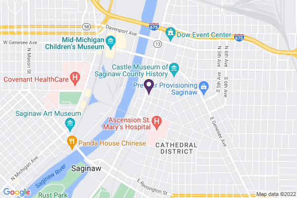 Map of Saginaw Covenant Academy