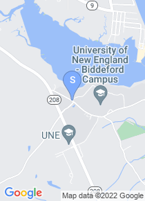University of New England map