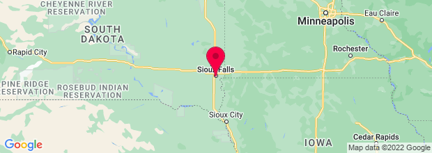 Map of Sioux Falls, SD, US