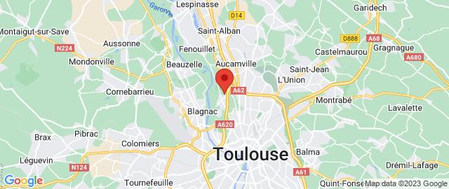 Carte Google Map de la vile de Toulouse