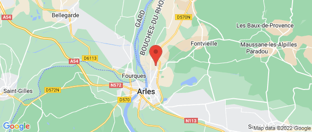 Carte Google Map de la vile de Arles