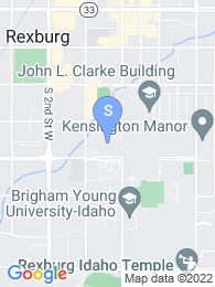 Brigham Young University Idaho map
