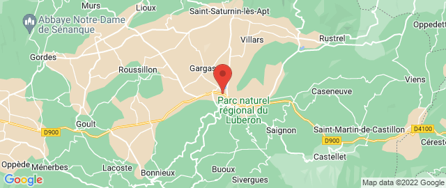 Carte Google Map de la vile de Apt