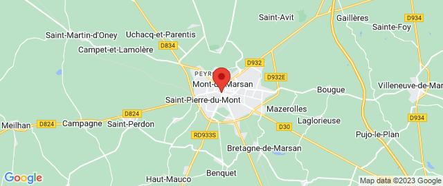 Carte Google Map de la vile de Mont-de-Marsan