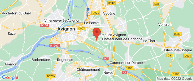 Carte Google Map de la vile de Avignon