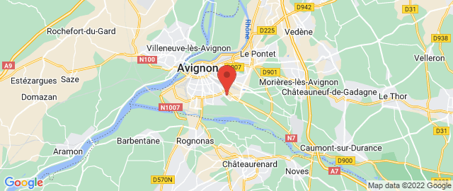 Carte Google Map de la vile de Avignon