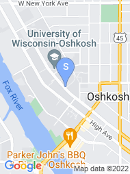 University of Wisconsin Oshkosh map