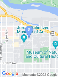 University of Oregon map