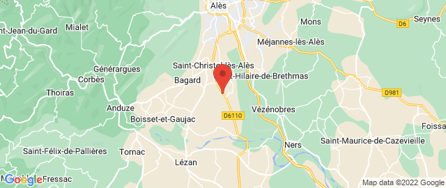 Carte Google Map de la vile de Saint-Christol-lès-Alès