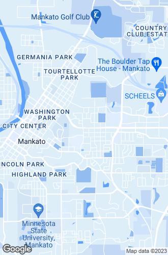 Map of Mankato