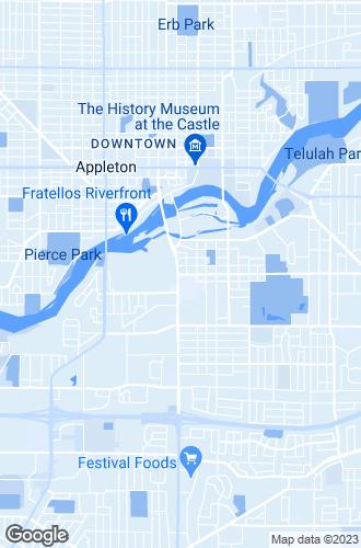 Map of Appleton