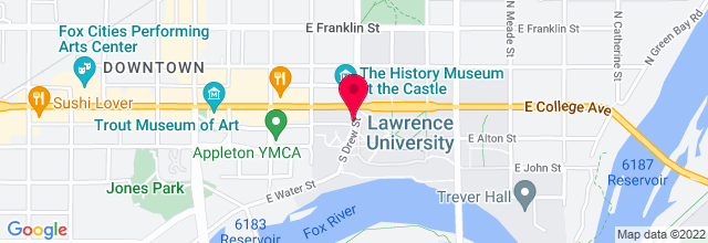 Map for Lawrence University