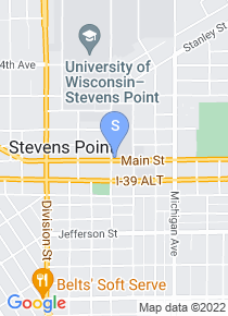 University of Wisconsin Stevens Point map