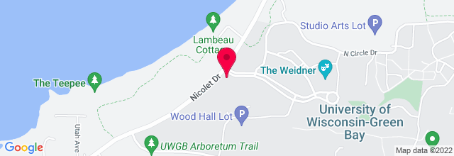 Map for University of Wisconsin - Green Bay
