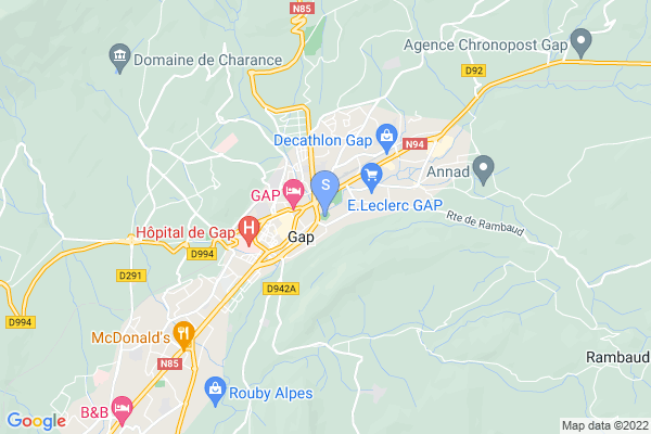carte - Les Rapaces de Gap (association)