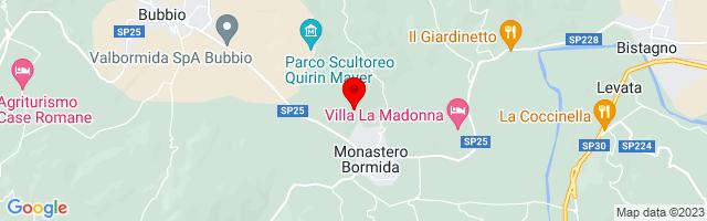 Google Map di 44.65348209215186,8.323420286178589