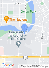 University of Wisconsin Eau Claire map
